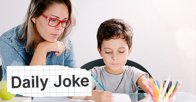 Daily Joke: Mom Forbids Her Son to Watch TV until He Does His Homework