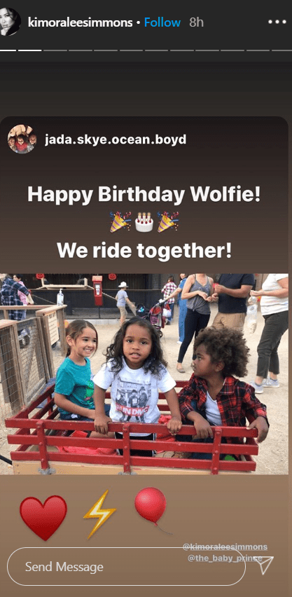 Kimora Lee sharing a photo of her son, Wolfie, on his birthday on her Instagram story. | Photo: Instagram/kimoraleesimmons