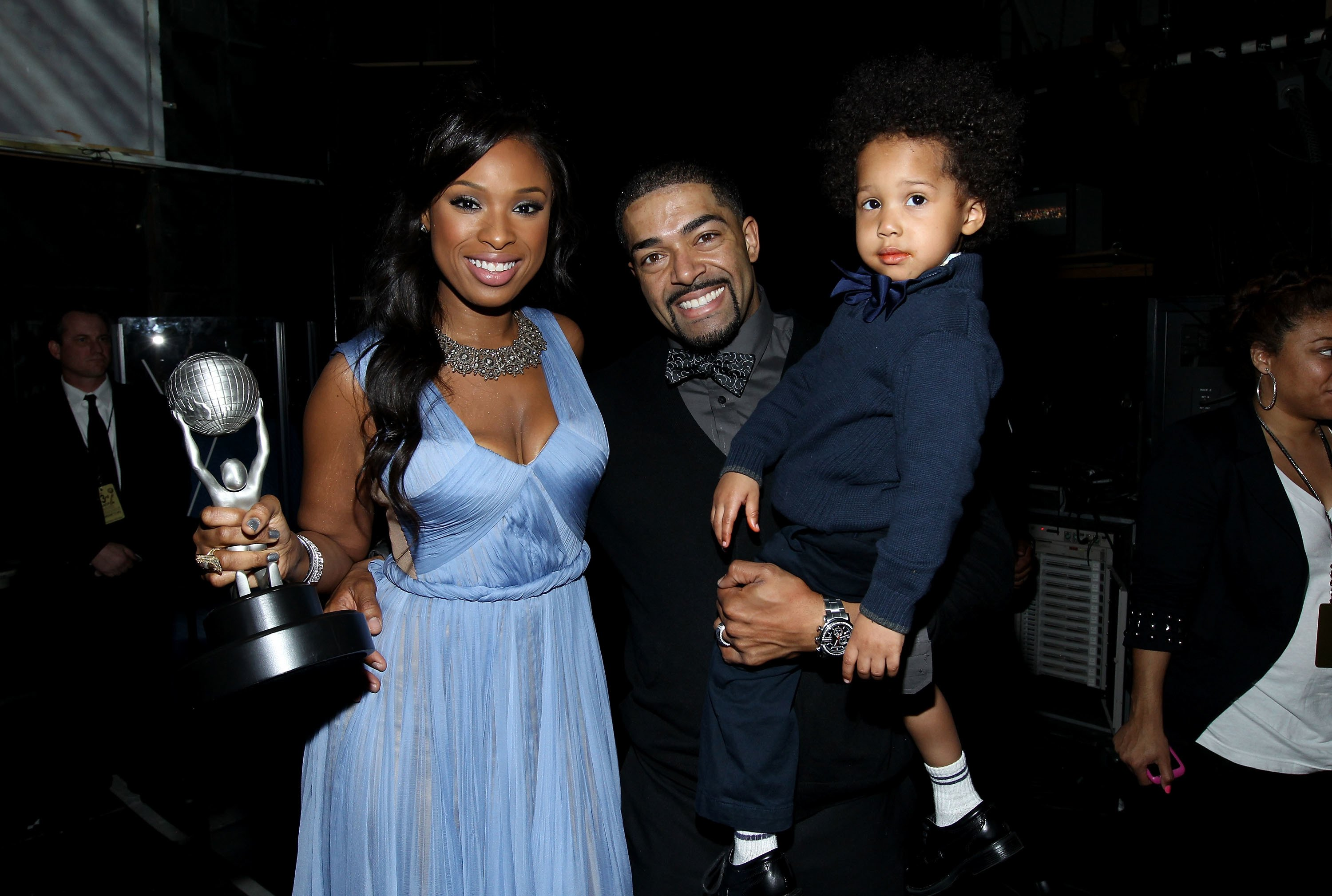 Jennifer Hudson, David Otunga, and son David Daniel Otunga Jr. attend the 43rd NAACP Image Awards held at The Shrine Auditorium on February 17, 2012. | Photo: Getty Images