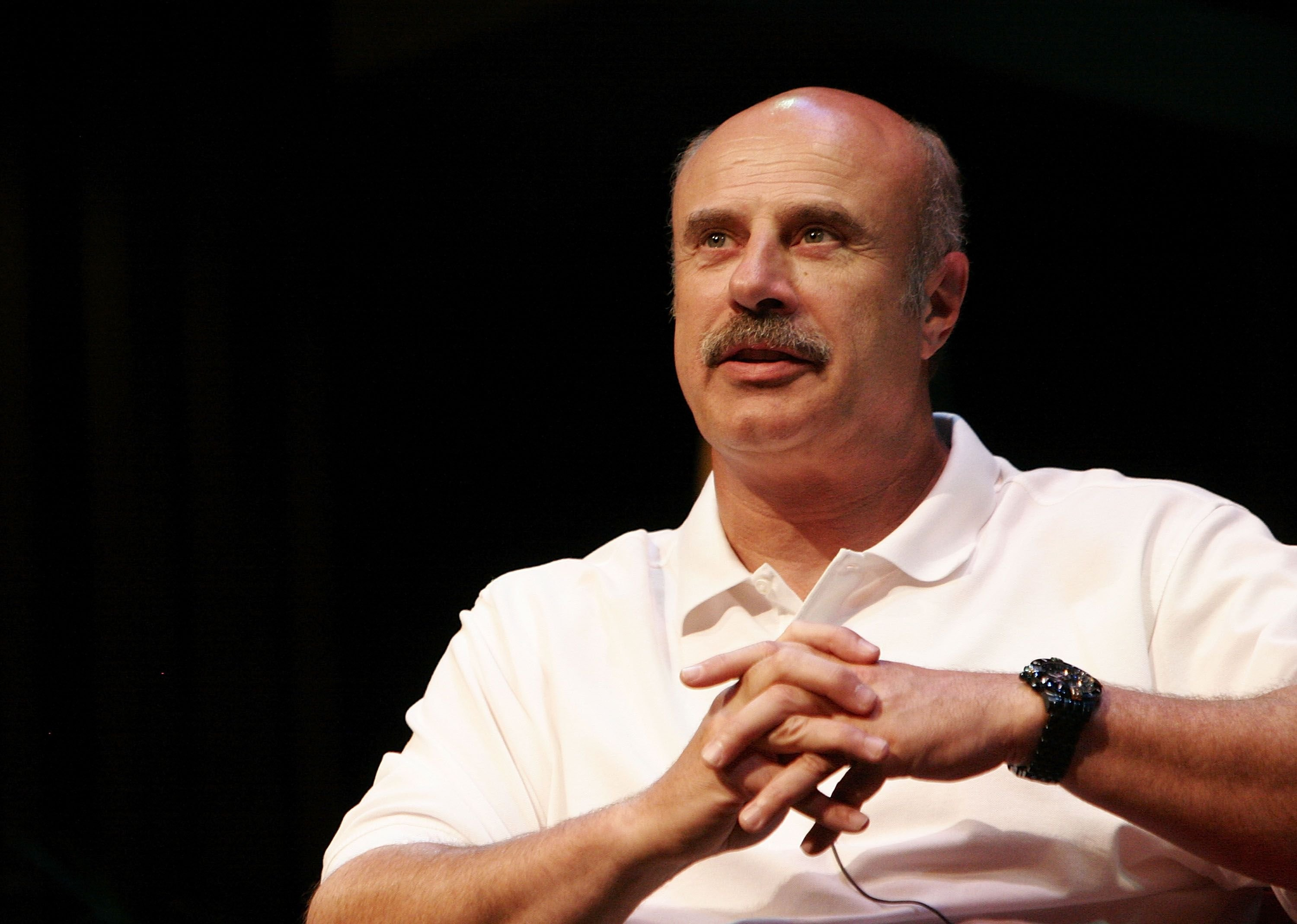 Morgan Stewart's future father-in-law Dr. Phil McGraw at the 12th Annual L.A. Times Festival of Books in 2007 | Source: Getty Images