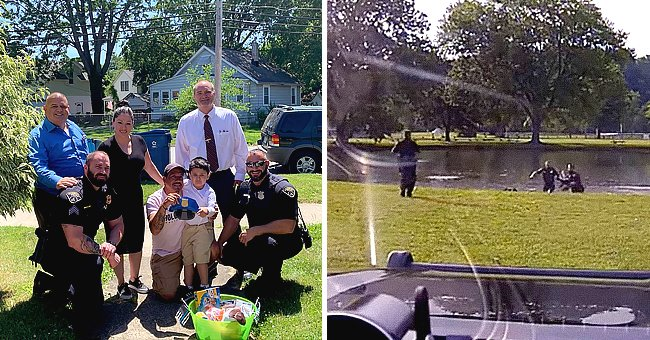 Police Find Missing 4-Year-Old Boy in a Pond, Dashcam Catches Everything