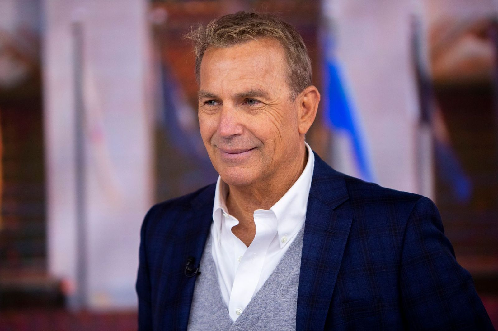 """Kevin Costner photographed on the """"Today"""" show onMarch 28, 2019 