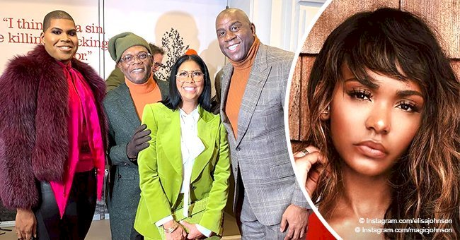 Magic Johnson hits the red carpet wife and son EJ after daughter Elisa's home invasion
