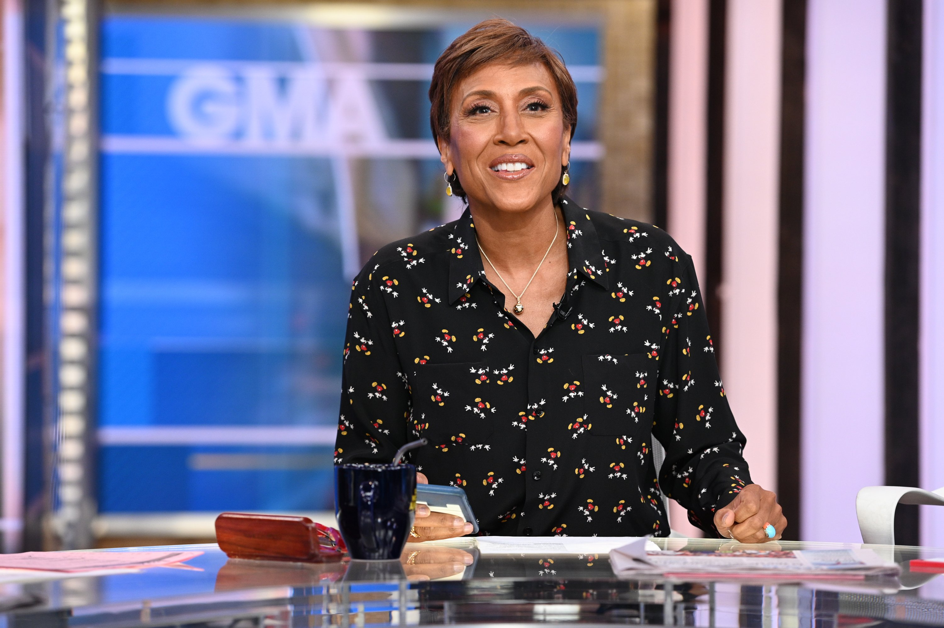 "Robin Roberts celebrating her 30th year with ""Good Morning America"" in January 2020. 