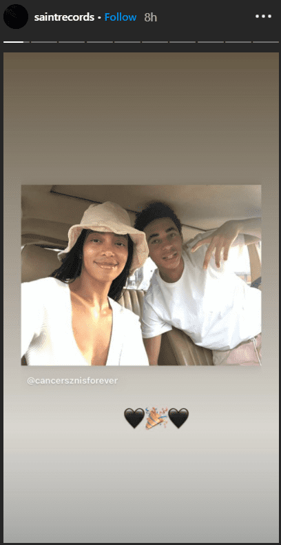 Solange Knowles' tribute to her son Julez on his 16th birthday on October 18, 2020.   Source: Instagram/saintrecords