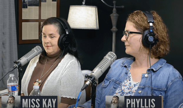 """Miss Kay and Phyliss, Phil Robertson's daughter appear on the """"Unashamed"""" podcast on May 31, 2020. 
