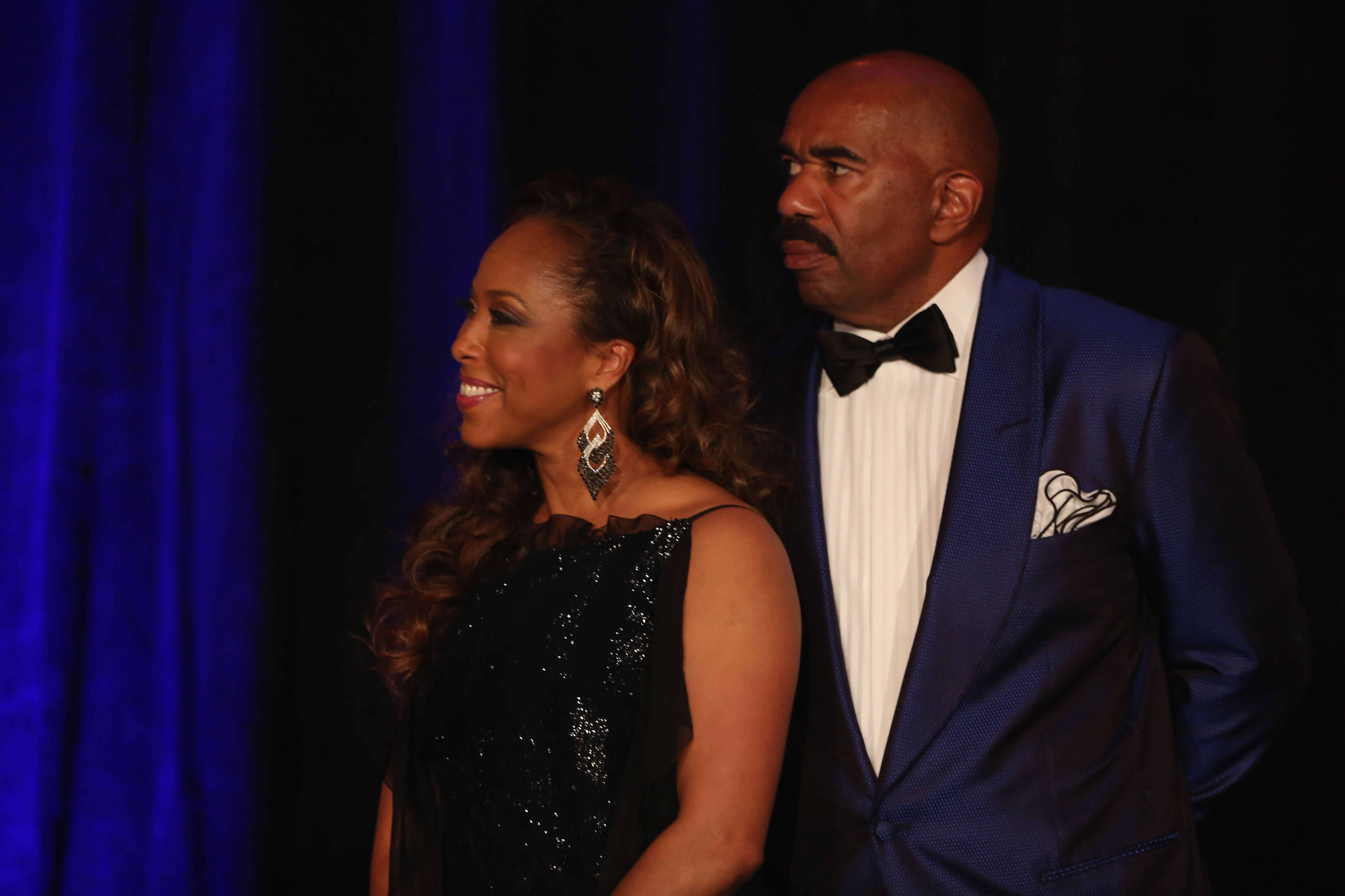Marjorie and Steve Harvey at the 2014 Steve & Marjorie Harvey Foundation Gala on May 3, 2014 in Chicago, Illinois. | Photo: Getty Images