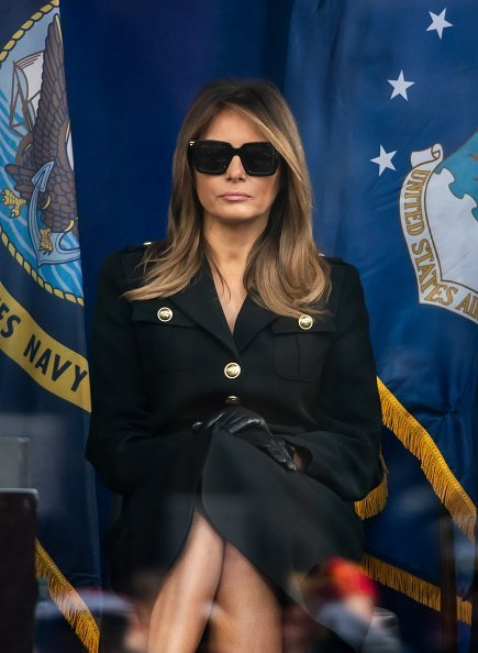 First Lady Melania Trump attends Veterans Day Parade's opening ceremony on November 11, 2019 | Photo: Getty Images