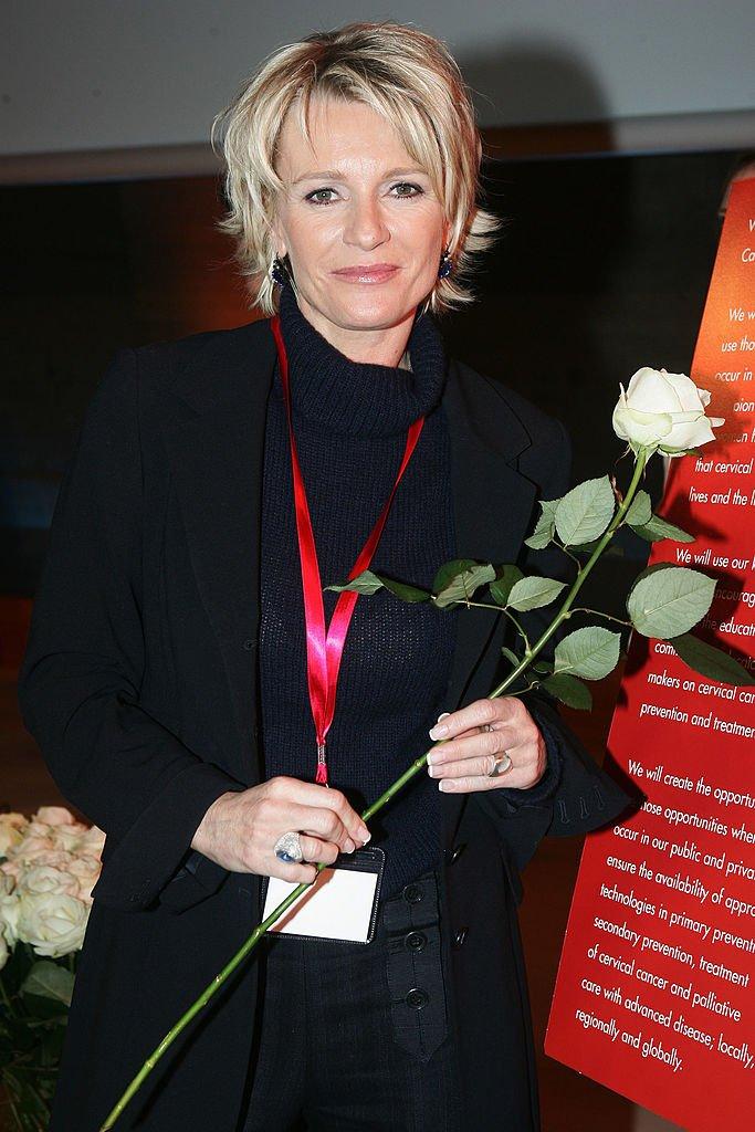 L'animatrice Sophie Davant le 22 mars 2007 à Paris. l Source : Getty Images