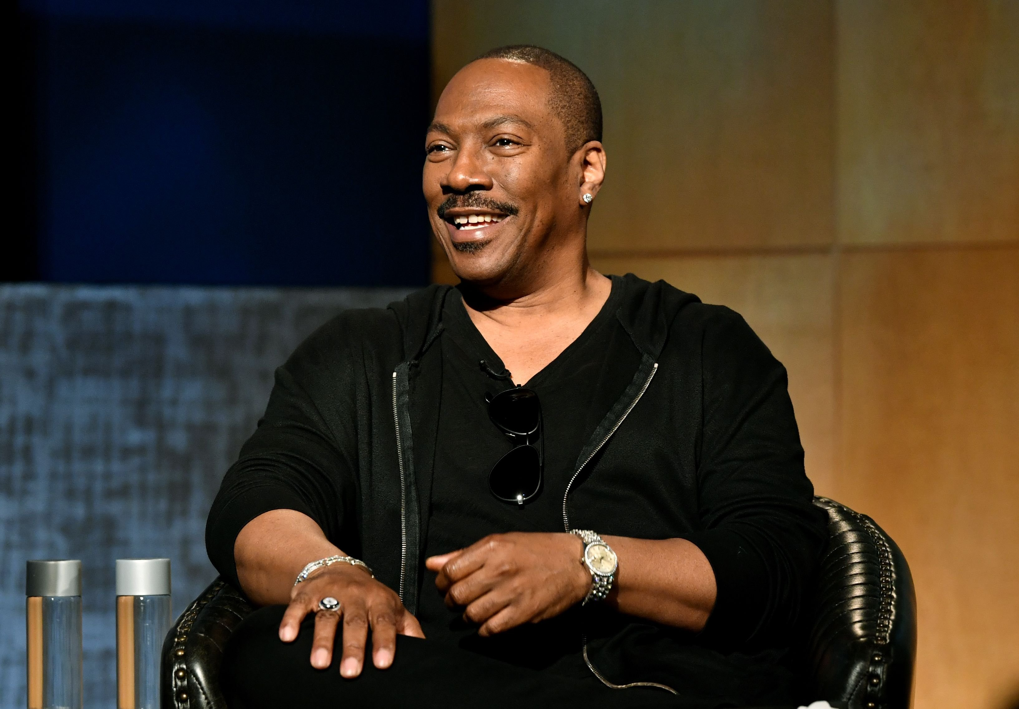 "Eddie Murphy at the LA Tastemaker event for ""Comedians in Cars"" on July 17, 2019 in Beverly Hills City Photo. 