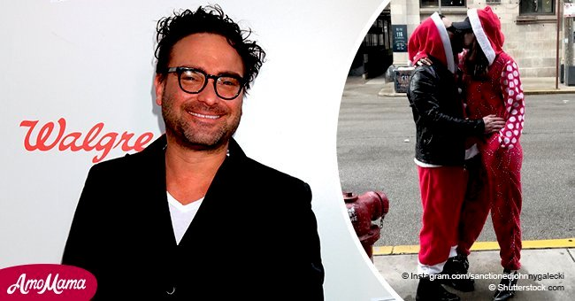 Johnny Galecki shares sweet Christmas photo kissing his 21-year-old girlfriend