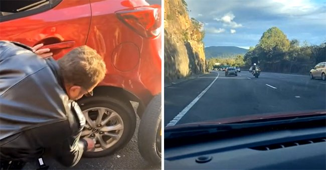 Policeman Wins the Internet after Helping Two Sisters Change a Flat Tire by the Roadside