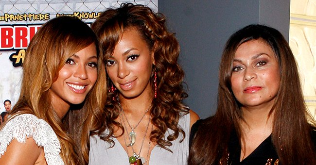 "Solange Knowles, Beyoncé, and Tina Knowles at a screening of ""Bring it On: All or Nothing"" on August 2, 2006. 