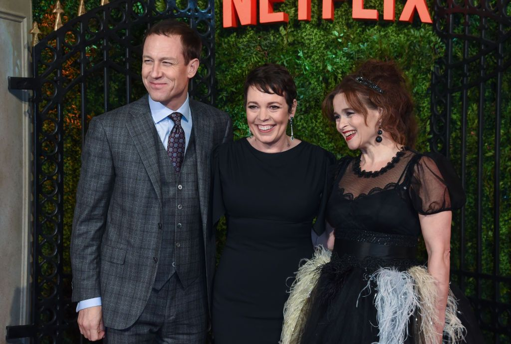 "Tobias Menzies, Olivia Colman and Helena Bonham Carter at the World Premiere of Netflix Original Series ""The Crown"" Season 3 in 2019 in London, England 