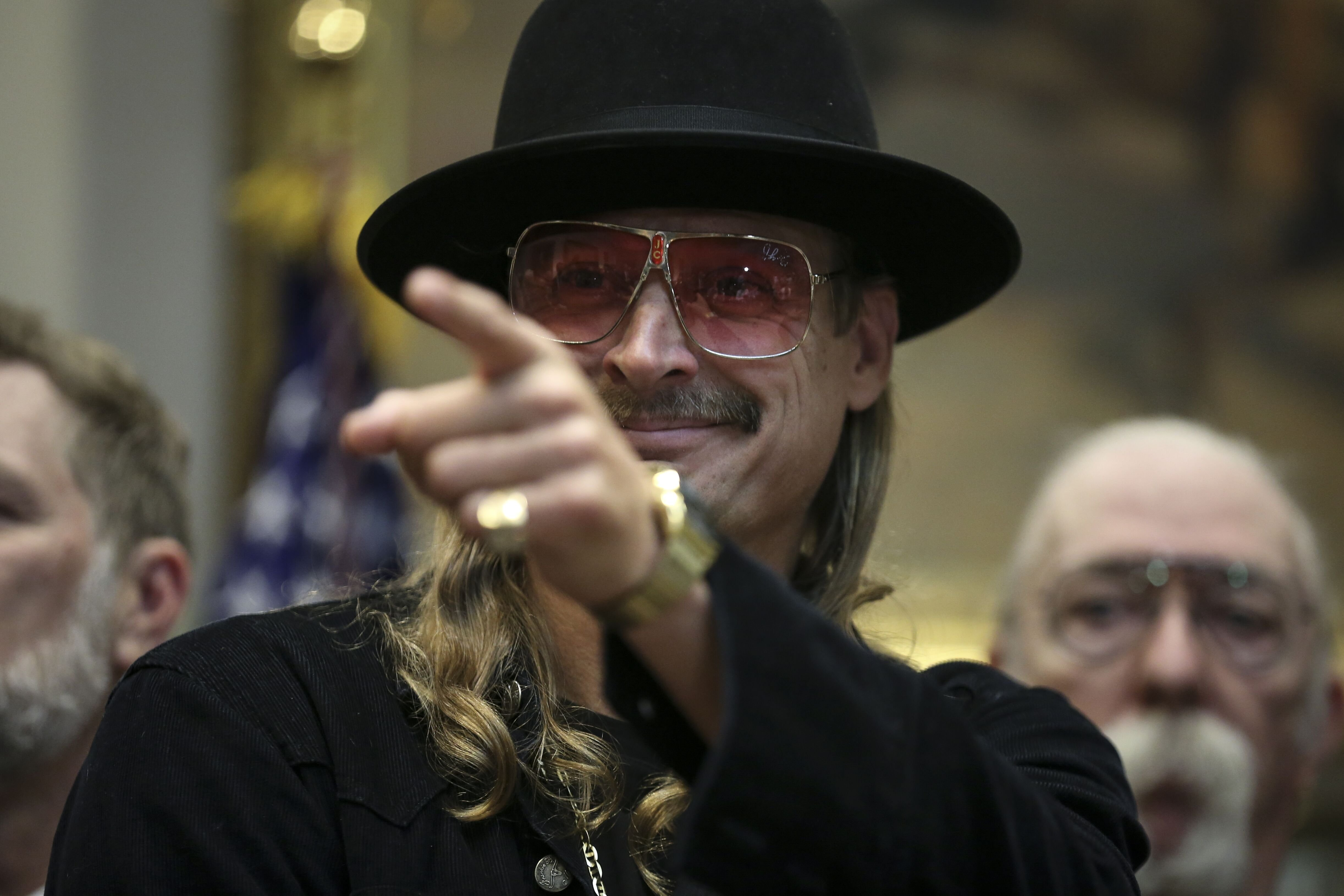 Kid Rock attends a signing ceremony as U.S. President Donald Trump signs the H.R. 1551 in Washington 2018 | Source: Getty Images