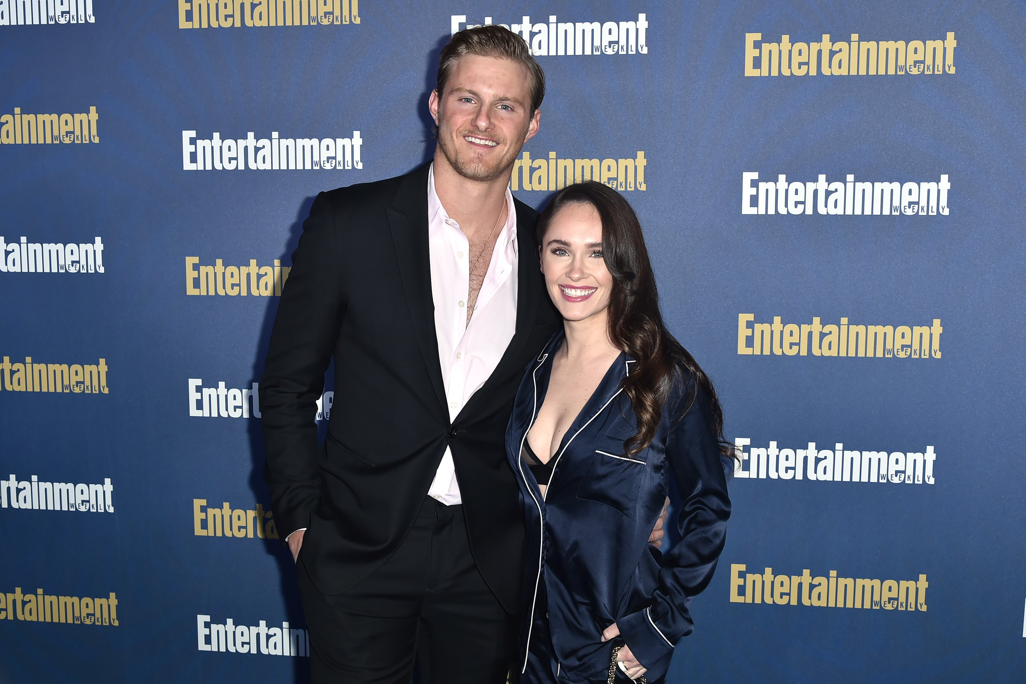 Alexander Ludwig and Kristy Dinsmore attend the Entertainment Weekly Honors Screen Actors Guild Awards Nominees at Chateau Marmont on January 18, 2020 | Photo: GettyImages