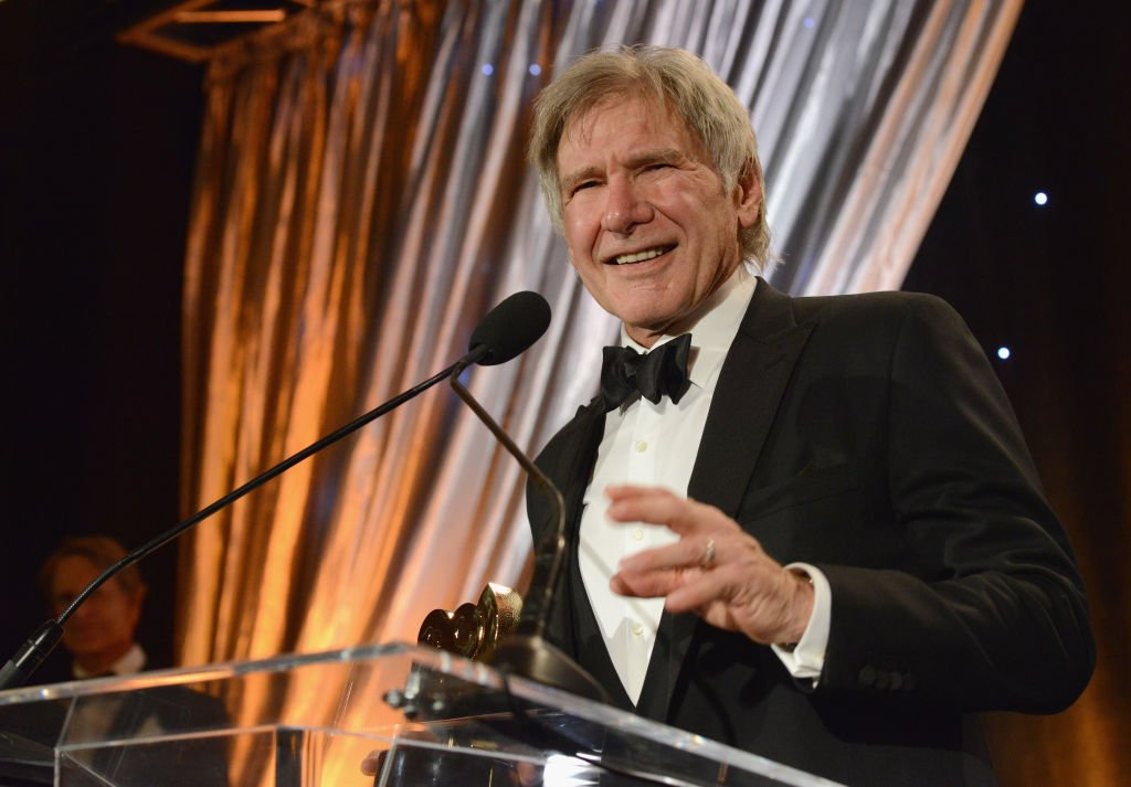 Actor Harrison Ford accepts the SOC President's Award at The Society Of Camera Operators 40th Annual Lifetime Achievement Awards held at Loews Hollywood Hotel | Photo: Getty Images