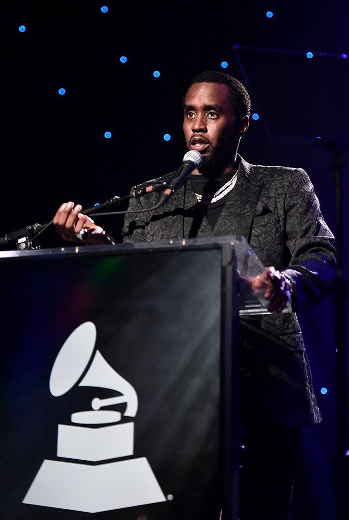 """Sean 'Diddy' Combs accepts the President's Merit Award onstage during the Pre-GRAMMY Gala and GRAMMY Salute to Industry Icons Honoring Sean """"Diddy"""" Combs on January 25, 2020 in Beverly Hills, California. I Image: Getty Images."""