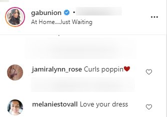 A screenshot of a fans' comments on Gabrielle Union's Instagram. | Photo: instagram.com/gabunion