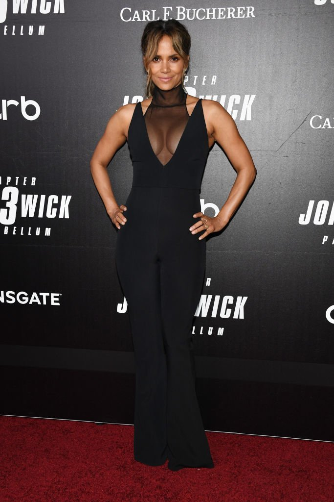 """Halle Berry at the """"John Wick: Chapter 3"""" world premiere in New York City on May 9, 2019. 