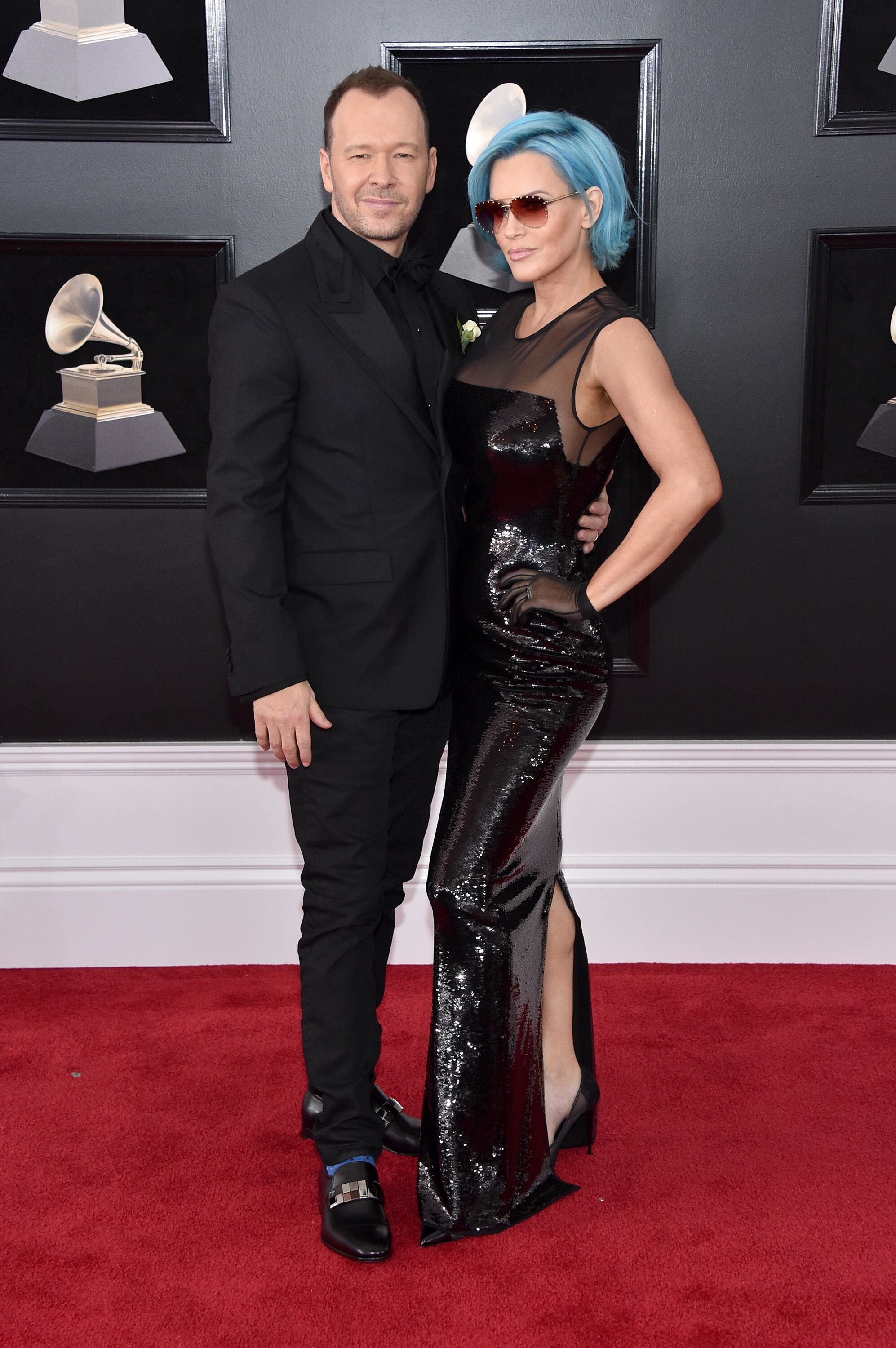 Donnie Wahlberg and Jenny McCarthy attend the 60th Annual GRAMMY Awards on January 28, 2018. | Source: Getty Images