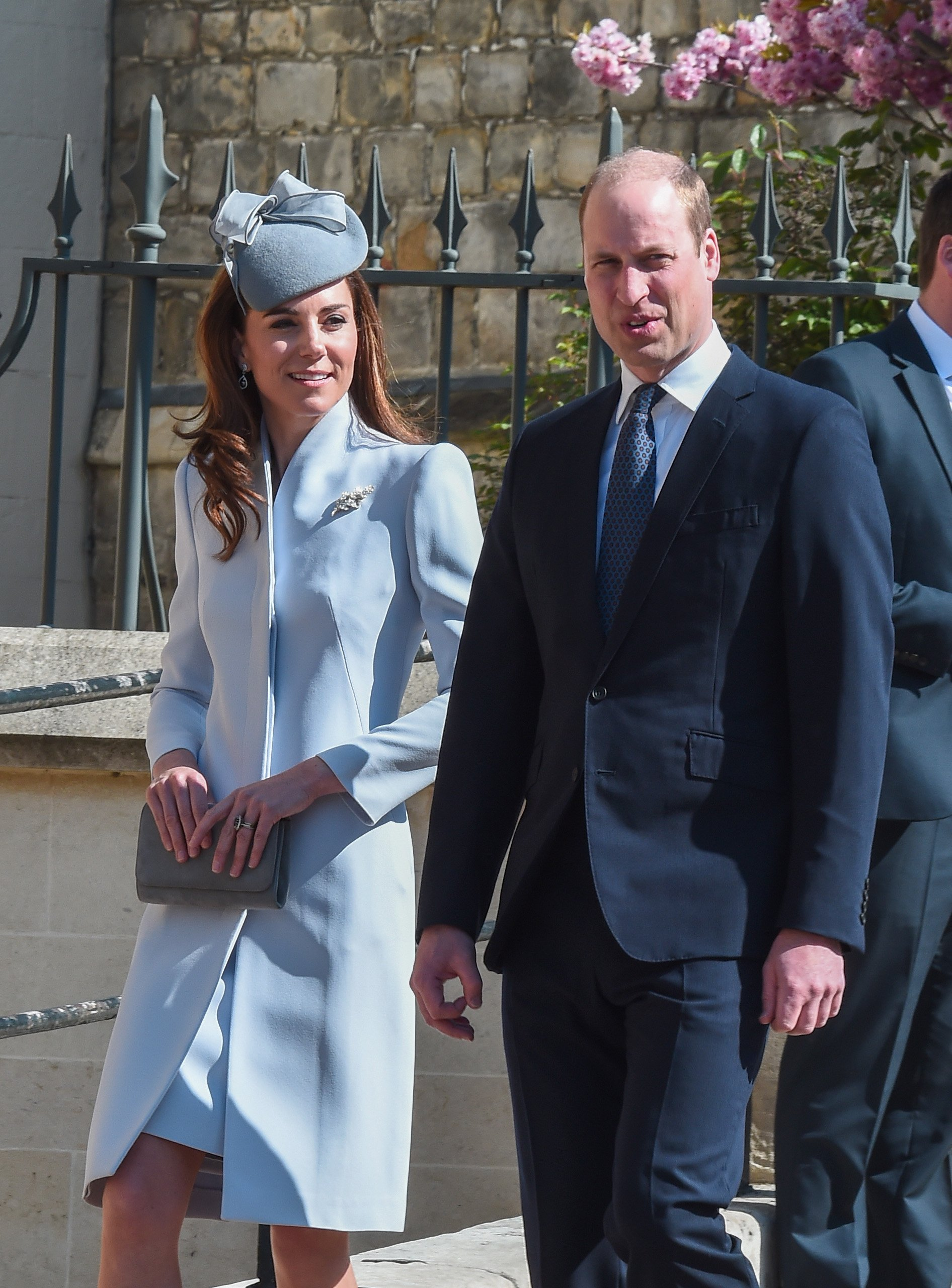 The Duke and Duchess of Cambridge attend the Easter Sunday service at St George's Chapel on April 21, 2019. | Photo: GettyImages