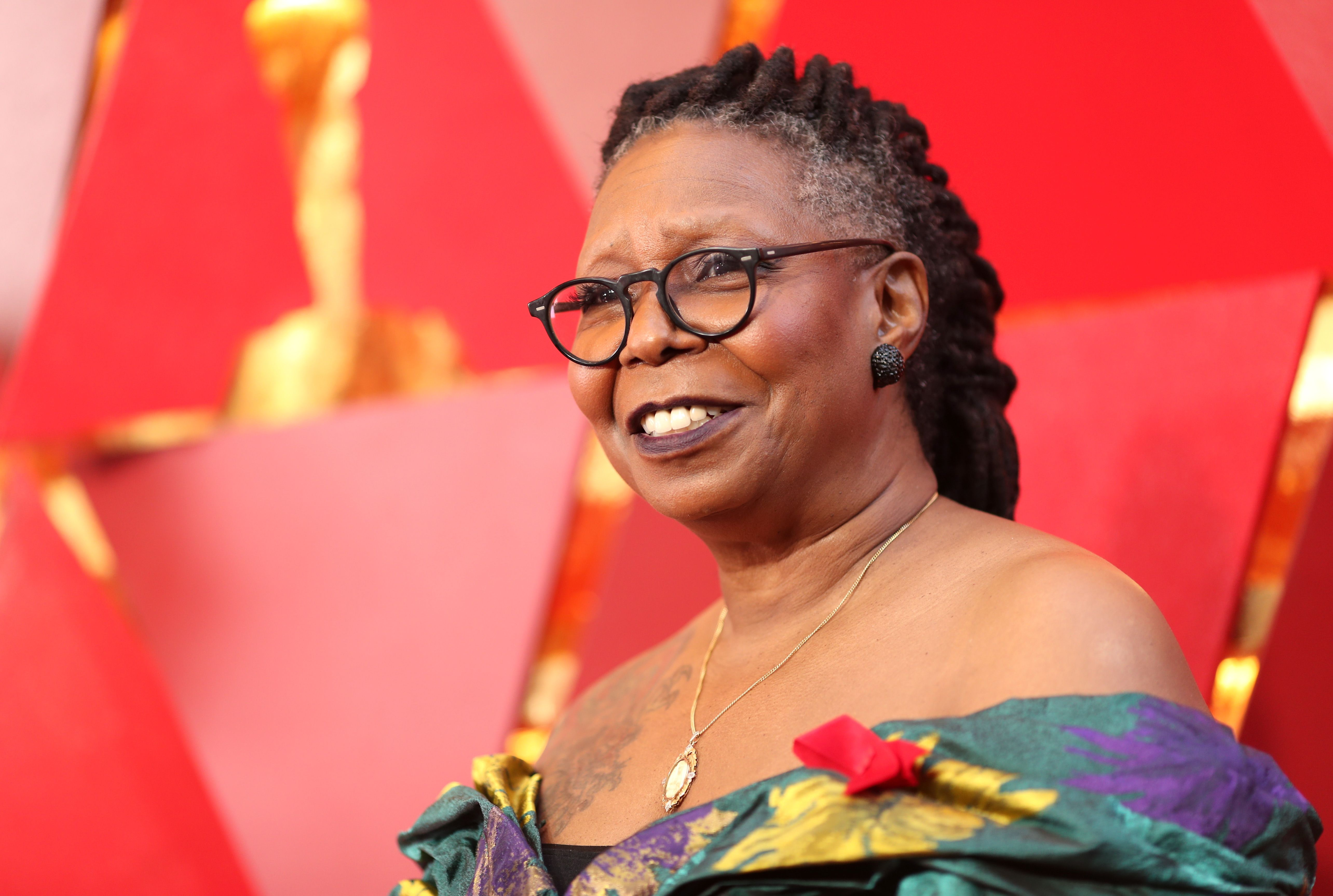 Whoopi Goldberg at the 90th Annual Academy Awards at Hollywood & Highland Center on March 4, 2018   Photo: Getty Images