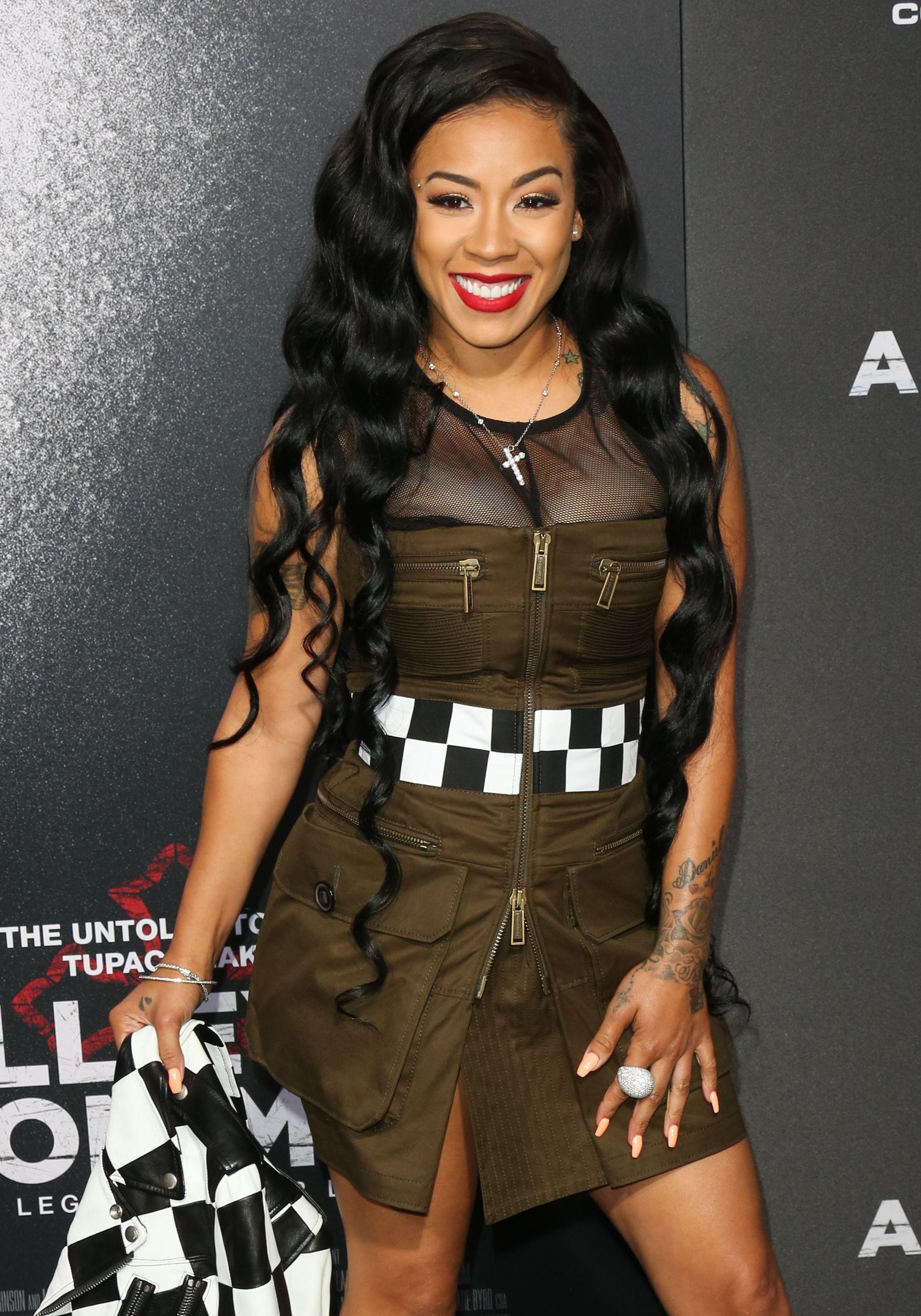 """Keyshia Cole during the premiere of Lionsgate's """"All Eyez On Me"""" on June 14, 2017 in Los Angeles, California.   Source: Getty Images"""