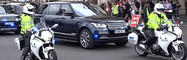 Duke and Duchess of Cambridge's convoy   Photo: Daily Mail