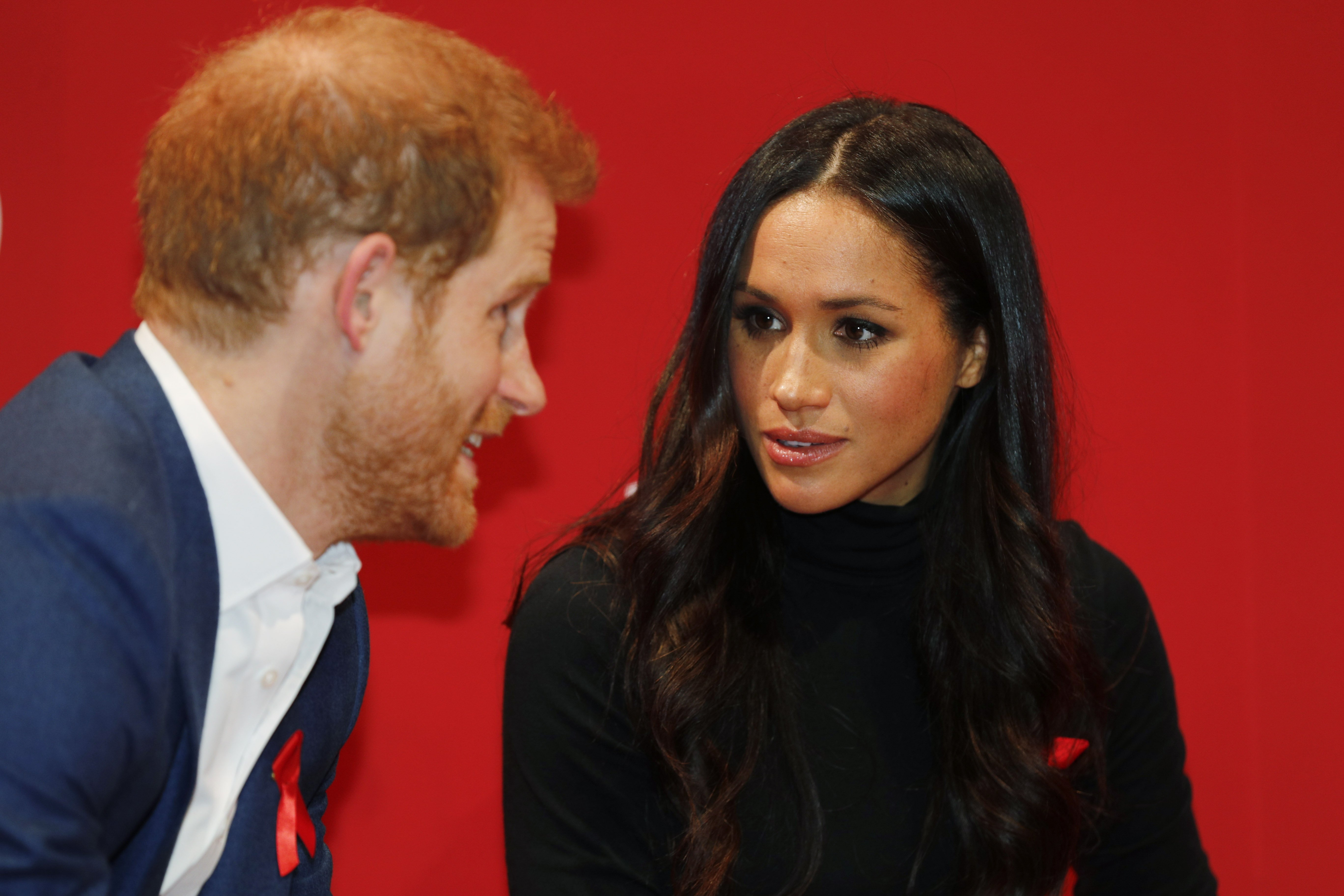 Prince Harry & Meghan Markle at the Terrence Higgins Trust World AIDS Day charity fair on Dec. 1, 2017 in England | Photo: Getty Images