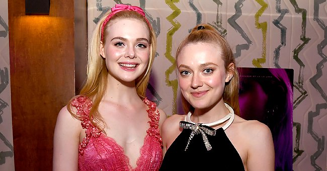 """Elle and Dakota Fanning pictured at a special screening of Bleeker Street's """"Teen Spirit"""" at the Highlight Room, 2019, Hollywood, California. 