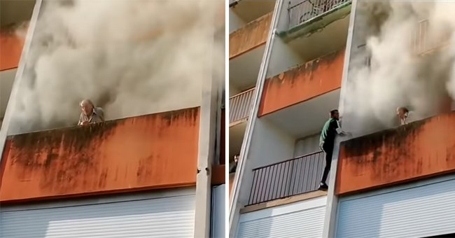 Strangers Risk Their Lives to Save Physically Impaired Old Man from a Deadly Fire