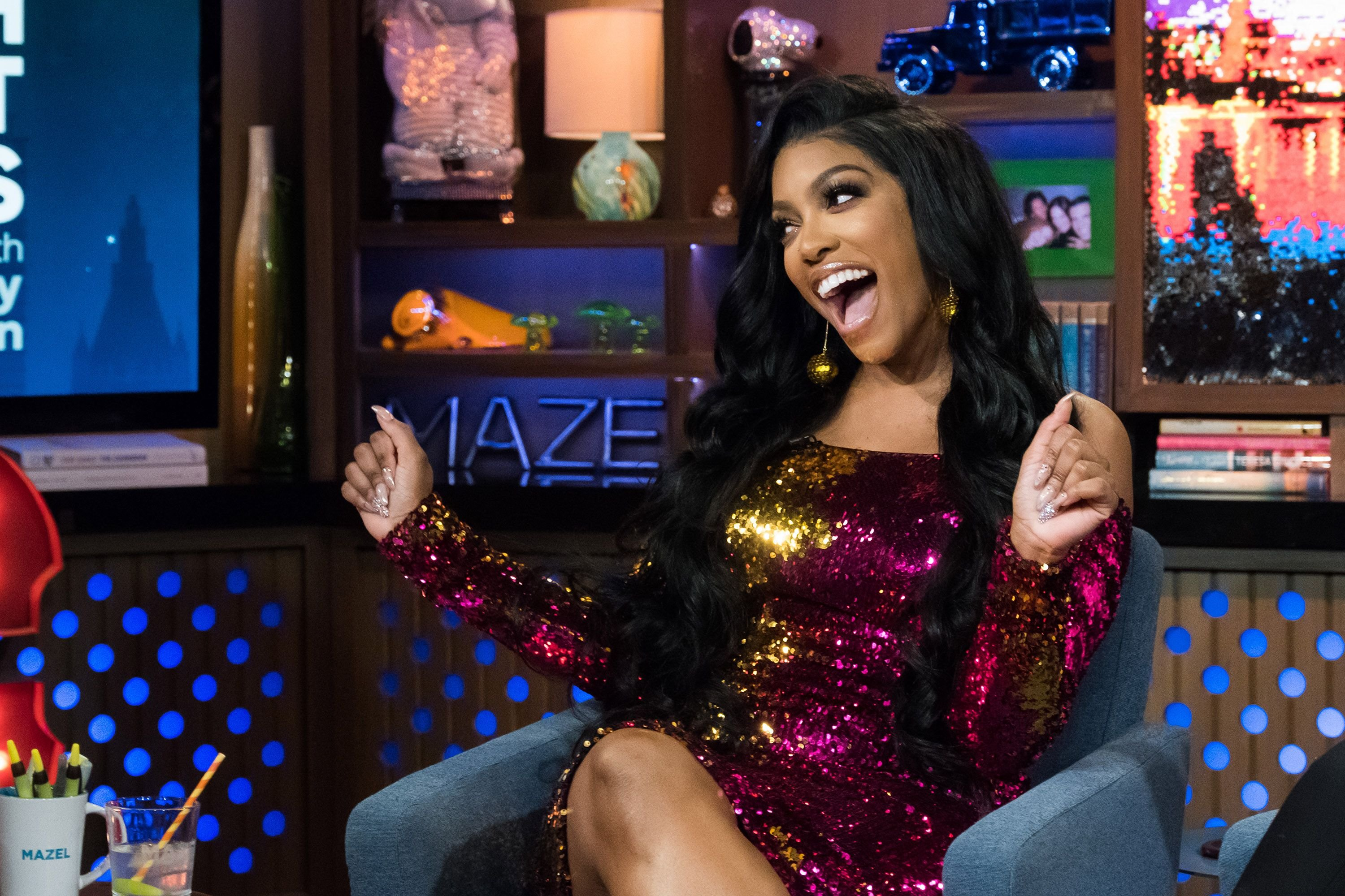 """Porsha Williams on season 15 of """"Watch What Happens Live with Andy Cohen,"""" February 2018 