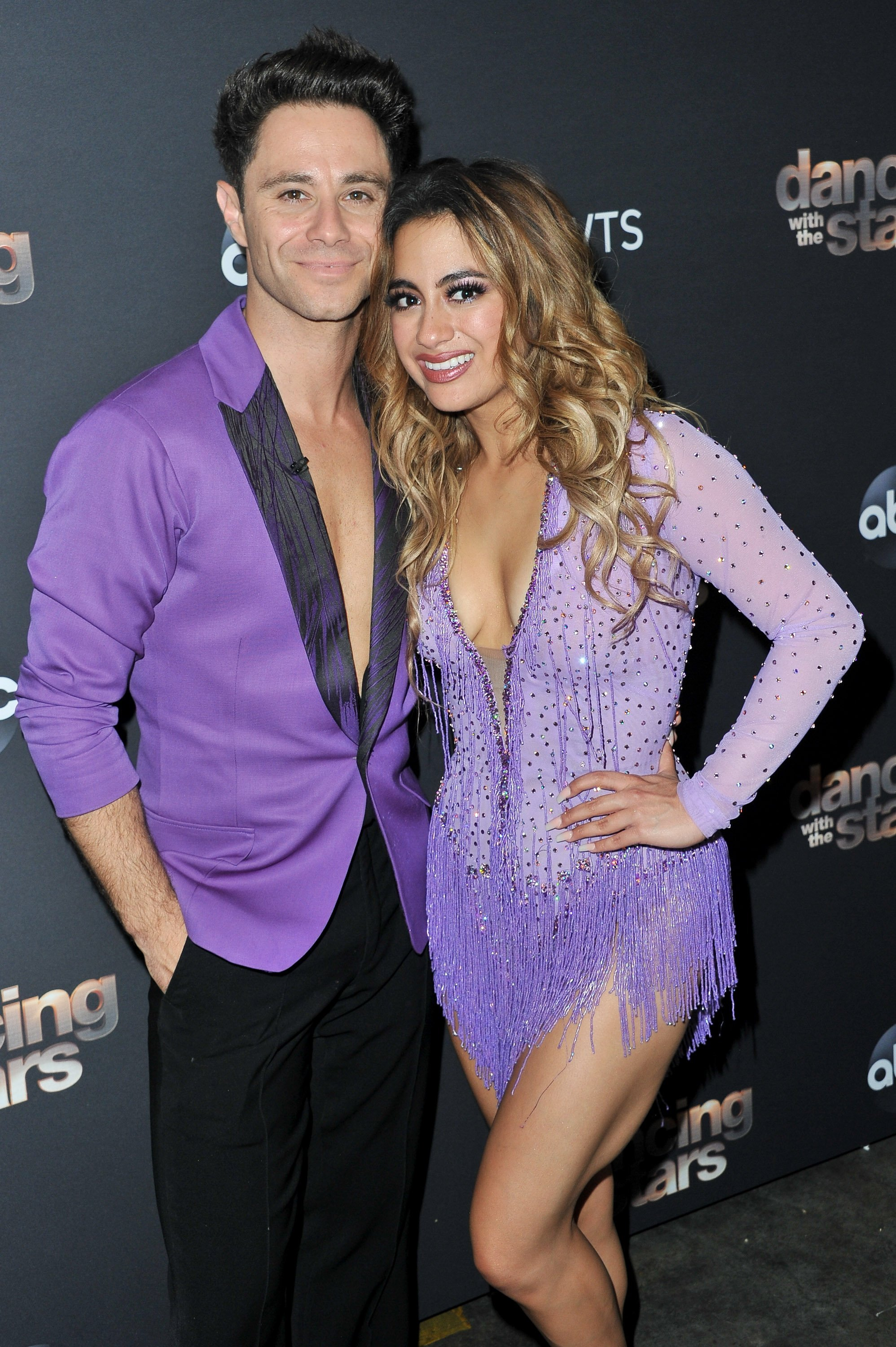 Sasha Farber and Ally Brooke on October 07, 2019 in Los Angeles, California | Source: Getty Images