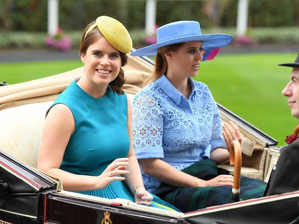 Princess Eugenie of York and Princess Beatrice of York at day one of Royal Ascot at Ascot Racecourse in Ascot, England. Photo: Getty Images,