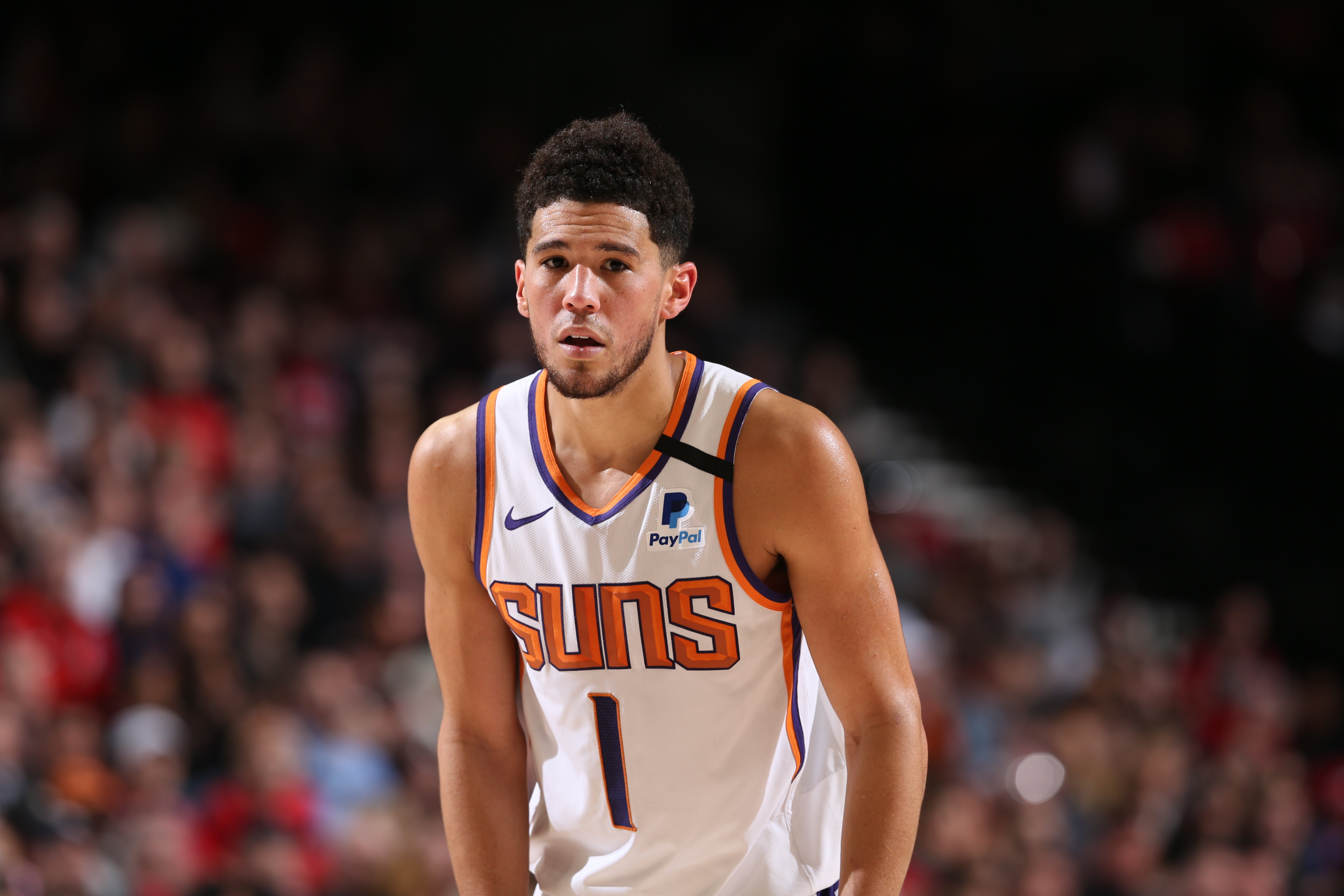 Devin Booker during a game on March 10 , 2020 at the Moda Center Arena | Photo: Getty Images