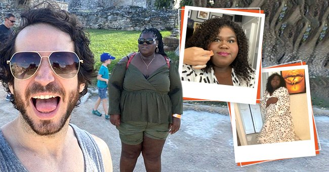"""Brandon Frankel and Gabby Sidibe with a sneak peek of the """"Empire"""" star's new look   Source: Instagram.com/brandontours, Instagram.com/gabby3shabby"""
