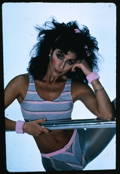 Cher Wearing Aerobics Gear. | Photo: Getty Images.