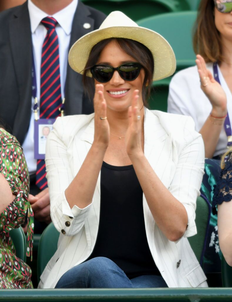Meghan, Duchess of Sussex attends day 4 of the Wimbledon Tennis Championships at the All England Lawn Tennis and Croquet Club  | Getty Images