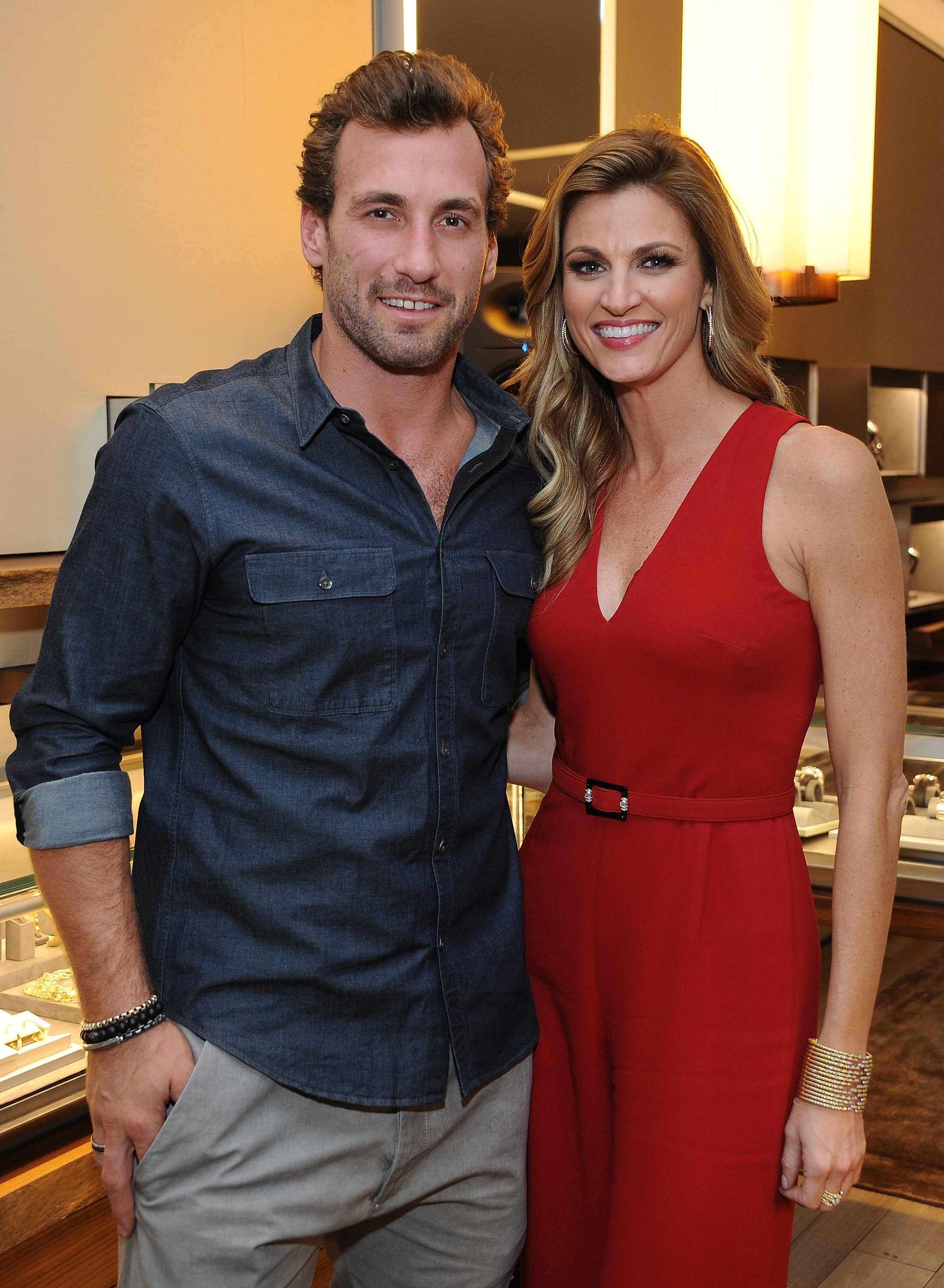 Jarret Stoll and Erin Andrews celebrate the launch of The Men's Forged Carbon Collection on November 10, 2014 | Photo: GettyImages