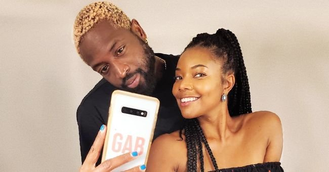 Gabrielle Union Smiles as She and Her Husband Dwyane Wade Pose Together for a Selfie