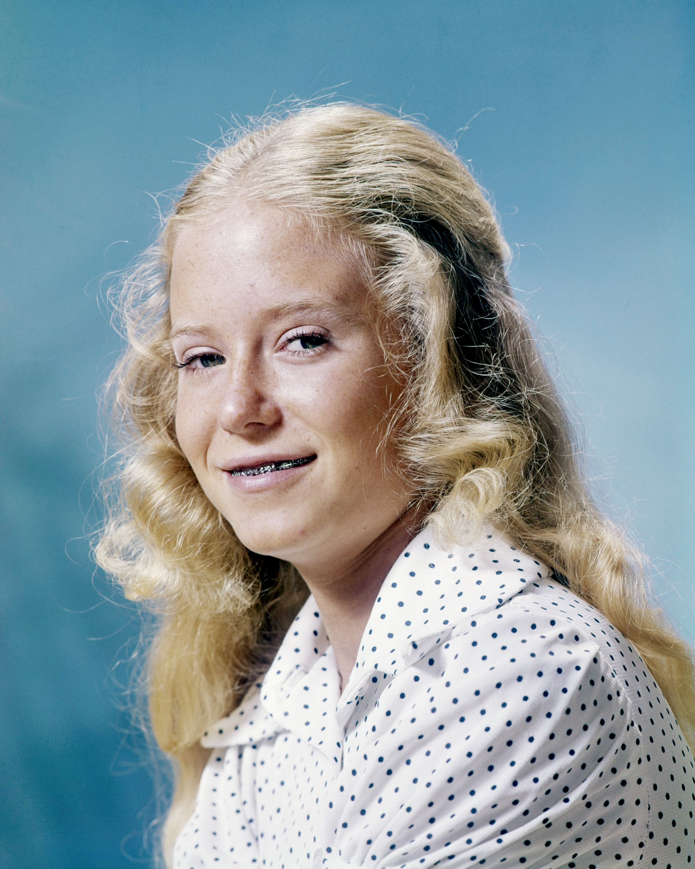Eve Plumb, circa 1972. Plumb is best known for playing Jan Brady in the American TV series 'The Brady Bunch'. | Source: Getty Images