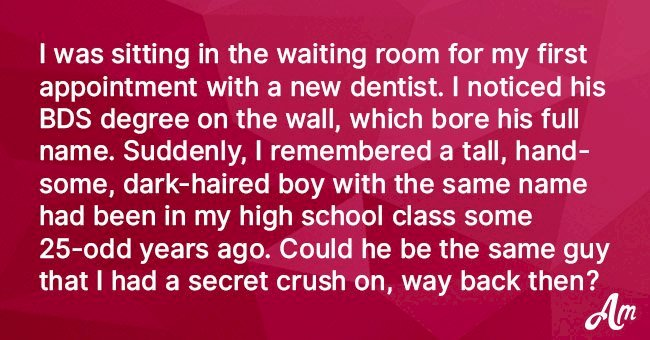 Woman Recognizes the Dentist with Whom She Studied Many Years Ago