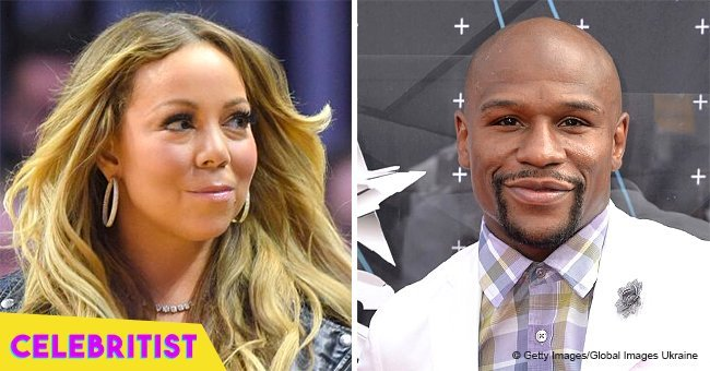 Mariah Carey gets dragged online after sharing picture with 'the champ' Floyd Mayweather