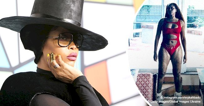Erykah Badu praised for showing off her snatched body in skimpy swimsuit in new photo