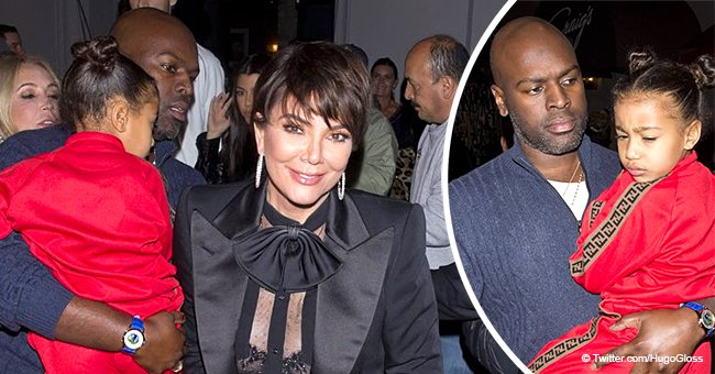 Kris Jenner's much younger boyfriend steps up for Kanye as he cradles North in recent pics