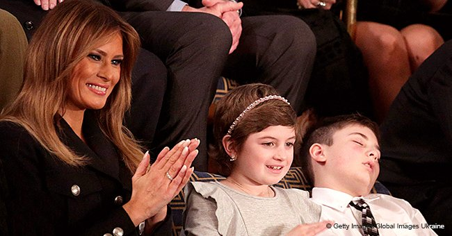 Bullied boy named Trump falls asleep at SOTU after being invited by president, photo goes viral