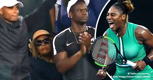 Serena Williams' mum steals the show with her 'poker face' reaction to daughter's win in video