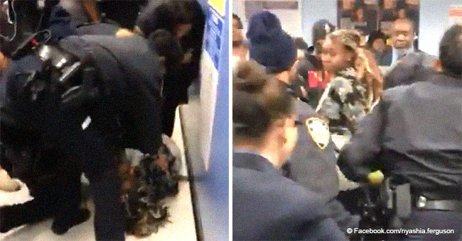 Black mother cries & begs for help as NYPD 'wrestle' her baby away in troubling video