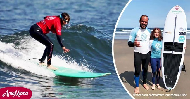 Mujer de 21 años será la primera surfista española ciega que intente competir en las Olimpíadas